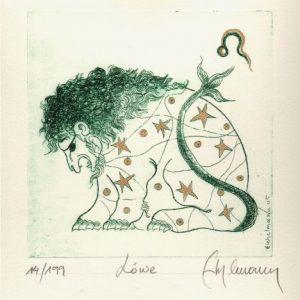 Löwe - selbstbewusst, lebhaftes Temperament, ehrgeizig, verleiht Festigkeit, fest